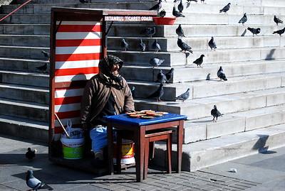 Bird food vendor, Istanbul