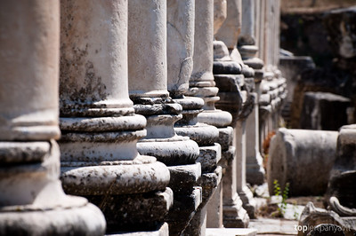 Row of columns in Aphrodisias