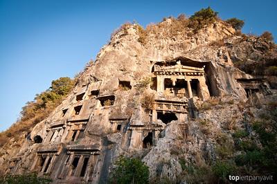Lycian rock tombs of Fethiye