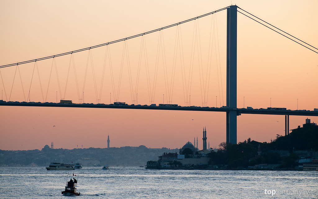 Bosphorus Bridge at dusk