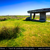 Europe - UK - England - Cornwall - Lanyon Quoit Dolmen - Megalithic Burial Chamber near Penwith