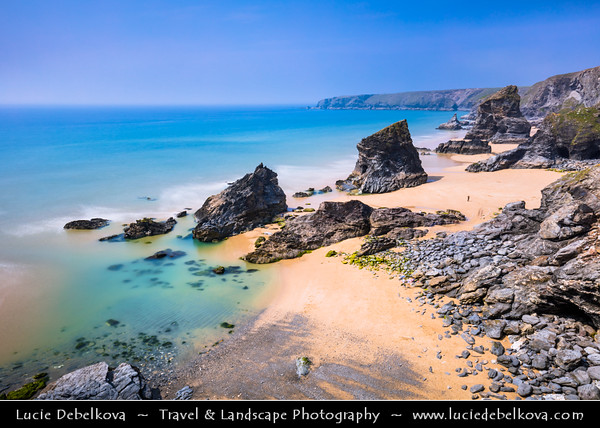 Europe - UK - England - Cornwall - Carnewas & Bedruthan Steps - Stretch of stunning coastline located on north Cornish coast between Padstow and Newquay