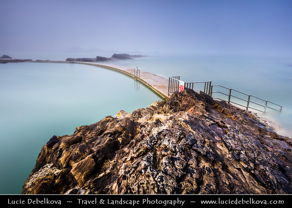 Europe - UK - England - Cornwall - Bude - Porthbud - Charming small seaside resort town along stretch of stunning coastline located on north Cornish coast - Natural swimming pool