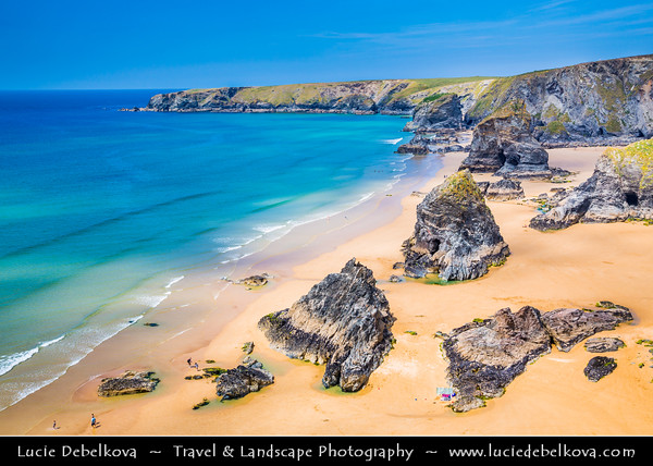 Europe - UK - England - Cornwall - Carnewas & Bedruthan Steps - Stretch of coastline located on the north Cornish coast between Padstow and Newquay