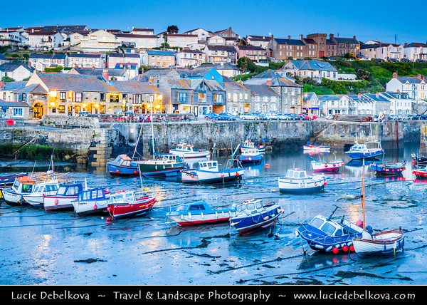 Europe - UK - England - Cornwall - Porthleven - Most southerly port on the island of Great Britain - Historic Harbour on Cornish coastline