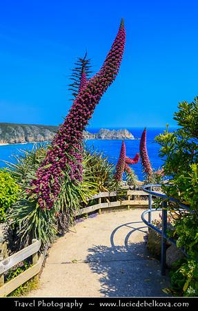 Europe - UK - England - Cornwall - Porthcurno, Logan Rock and Pednvounder Beach
