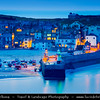 Europe - UK - England - Cornwall - St Ives - Porth Ia - St Ia's cove - Seaside town & Historic Harbour on Cornish coastline - Popular holiday resort - Twilight - Blue Hour - Dusk - Night