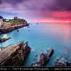Europe - UK - England - Devon - North Devon Heritage Coast - Ilfracombe - Historical harbour in spectacular coastal location surrounded by rugged cliffs on majestic Atlantic coast