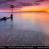 Europe - UK - United Kingdom - England - Dorset - Jurassic Coast - UNESCO World Heritage Site - Swanage - Most easterly coastal town on Jurassic Coast with gently shelving sandy beach and sheltered waters in wide Swanage Bay - Sunrise