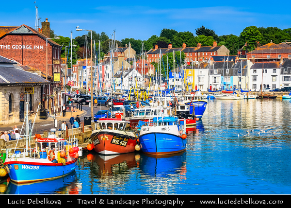 Europe - UK - England - Dorset - Weymouth - Seaside town situated on a sheltered bay at the mouth of the River Wey on the English Channel coast