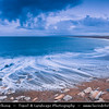 Europe - UK - United Kingdom - England - Dorset - Jurassic Coast - UNESCO World Heritage Site - Chesil Beach - Imposing shingle ridge stretches for 18 miles (28 kilometres) along coast - Pebble beach - One of the natural wonders