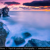 "Europe - UK - United Kingdom - England - Dorset - Jurassic Coast - Isle of Portland - Pulpit Rock - Coastal feature located at promontory Portland Bill - Sea stack of Pulpit Rock - Remainer of large natural arch, ""White Hole"" which was removed by quarrymen"