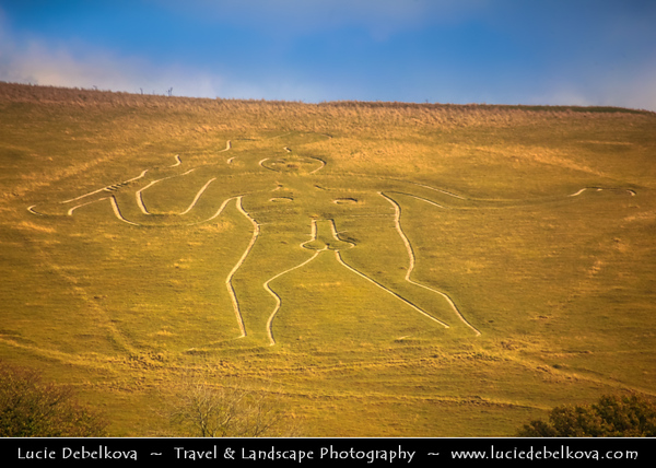 UK - England - Dorset - Dorchester - Cerne Abbas Giant - Rude Man - Rude Giant - Hill figure of a giant naked man on a hillside near the village of Cerne Abbas