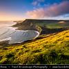 Europe - UK - United Kingdom - England - Dorset - Jurassic Coast - UNESCO World Heritage Site - Chapman's Pool - Magnificent unspoiled remote horseshoe rocky cove on Purbeck coast