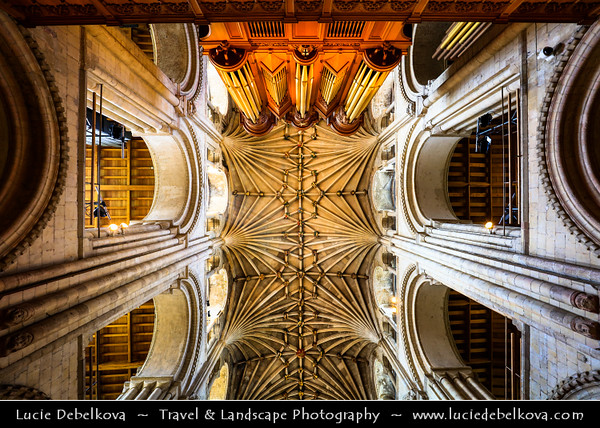 Europe - UK - England - East Anglia - Norfolk - Norwich - Norwich Cathedral - English cathedral in Norman style with second largest cloisters in England - One of Norwich 12 heritage sites