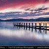 Europe - UK - United Kingdom - England - North West England - Cumbria - Lakes - Lake District National Park - Coniston Water - 3rd largest lake in Lake District - 5 miles long & 1/2  wide - Jetty - Late Evening Sunset