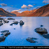 Europe - UK - United Kingdom - England - North West England - Cumbria - Lakes - Lake District National Park - Wasdale Valley - Wastwater - 3 miles long, half a mile wide & 260 feet deep lake - Deepest of all lakes with spectacular mountain backdrop