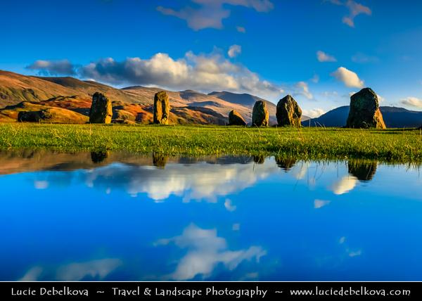 Europe - UK - United Kingdom - England - North West England - Cumbria - Lakes - Lake District National Park - Keswick - Castlerigg Stone Circle - One of most visually impressive prehistoric monuments in Britain