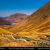 Europe - UK - United Kingdom - England - North West England - Cumbria - Lakes - Lake District National Park - Classic landscape with mountains - Wrynose Pass - Mountain pass between Duddon Valley and Little Langdale
