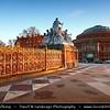 UK - England - London - The Albert Memorial in Kensington Gardens & Royal Albert Hall