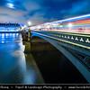 Europe - UK - United Kingdom - England - London -  Westminster Bridge - Situated over River Thames - Road & foot traffic