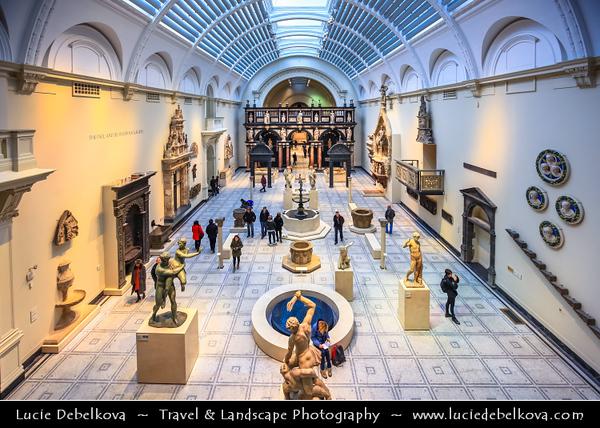 UK - England - London - VA - Victoria and Albert Museum in South Kensington in West London