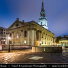 Europe - UK - England - London - City of Westminster - Trafalgar Square - St. Martin in the Fields - Anglican church at Dusk - Twilight - Blue Hour