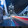 Europe - UK - England - London - Tower Bridge - Suspension & bascule bridge over the River Thames - Iconic symbol of London