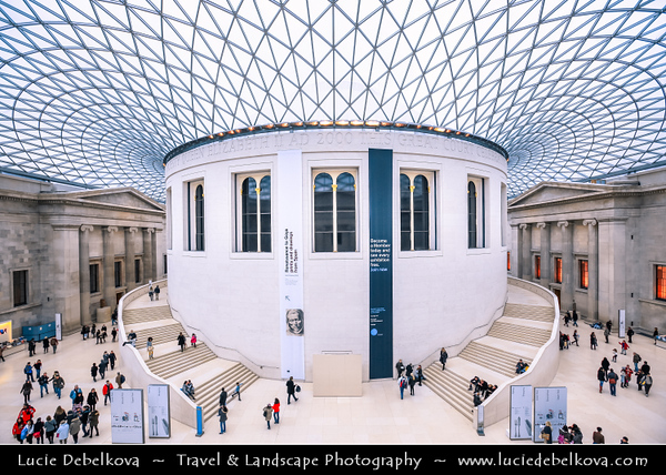 UK - England - London - British Museum - Dedicated to human history & culture - Permanent collection, numbering some eight million works is amongst the largest & most comprehensive in existence & originates from all continents, illustrating and documenting the story of human culture from its beginnings to the present