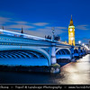 Europe - UK - United Kingdom - England - London -  Westminster Bridge - Situated over River Thames - Road & foot traffic