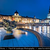 Europe - UK - England - London - City of Westminster - Trafalgar Square - National Gallery - One of major tourist attraction at Dusk - Twilight - Blue Hour