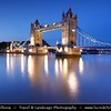 UK - England - London - Tower Bridge - Suspension & bascule bridge over the River Thames - Iconic symbol of London