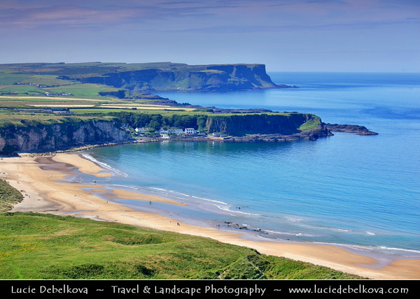 Europe - UK - Northern Ireland - County Antrim - Causeway Coastal Route - Rated as one of the Top Five Road Trips worldwide with ever changing tapestry of scenery and colours, set against a dramatic coastal backdrop