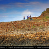 UK – Northern Ireland – Co. Antrim - Giant's Causeway - UNESCO World Heritage Site - Area of about 40,000 interlocking basalt columns, the result of an ancient volcanic eruption