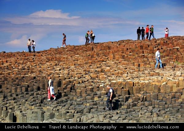 UK – Northern Ireland – Co. Antrim - Giant's Causeway - UNESCO World Heritage Site - Area of about 40,000 interlocking basalt columns, the result of an ancient volcanic eruption