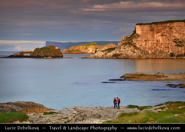 Europe - UK - Northern Ireland - County Antrim - Ballintoy - Baile an Tuaigh - The northern townland - Ballintoy Harbour - Small fishing harbour located at the end of a very small, narrow, steep road down Knocksaughey hill
