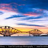 Europe - UK - United Kingdom - Scotland - Edinburgh - Forth railway Bridge spans the Firth of Forth connecting Edinburgh, at South Queensferry to Fife, at North Queensferry
