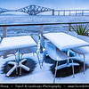 Europe - UK - United Kingdom - Scotland - Edinburgh - Forth railway Bridge spans the Firth of Forth connecting Edinburgh, at South Queensferry to Fife, at North Queensferry - Winter scene under heavy snow cover