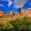 Europe - UK - United Kingdom - Scotland - Edinburgh - Dùn Èideann - Capital city of Scotland & Seat of Scottish Parliament -  Edinburgh Castle - Fortress which dominates the skyline of the city from its position atop the volcanic Castle Rock