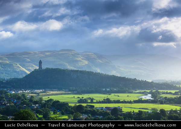 Europe - UK - United Kingdom - Scotland - Stirling -  Wallace Monument near Stirling Castle which commemorates the actions of William Wallace during the Wars of Independence