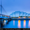 Europe - UK - United Kingdom - Scotland - Glasgow - Glesga - Clyde Auditorium - The Armadillo - Glasgow's most iconic building - Concert venue that sits on site of Queen's Dock on the River Clyde, adjacent to Scottish Exhibition & Conference Centre