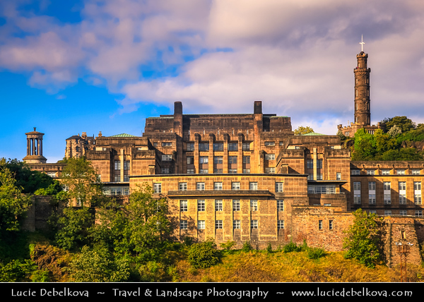 Europe - UK - United Kingdom - Scotland - Edinburgh - Dùn Èideann - Capital city of Scotland & Seat of Scottish Parliament - Historical center with typical architecture