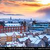 Europe - UK - Scotland - Edinburgh - Dùn Èideann - Capital city of Scotland & Seat of Scottish Parliament - Winter scene under heavy snow cover