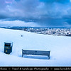 Europe - UK - Scotland - Edinburgh - Dùn Èideann - Capital city of Scotland & Seat of Scottish Parliament - Edinburgh Skyline from Calton Hill - Winter scene under heavy snow cover