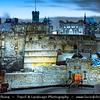 Europe - UK - Scotland - Edinburgh - Dùn Èideann - Capital city of Scotland & Seat of Scottish Parliament - Edinburgh Castle - Fortress which dominates the skyline of the city from its position atop the volcanic Castle Rock