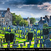 Europe - UK - United Kingdom - Scotland - Stirling - Old cemetery next to Stirling Castle atop Castle Hill - One of largest & most important castles Scotland dating from at least early 12th century, present buildings mostly built between 1490 and 1600