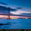Europe - UK - United Kingdom - Scotland - Edinburgh - Forth Road Bridge - Suspension bridge spans the Firth of Forth connecting Edinburgh, at South Queensferry to Fife, at North Queensferry