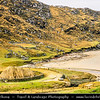 Europe - UK - Scotland - Western Isles of Scotland - Outer Hebrides - Isle of Lewis - Great Bernera - Beàrnaraigh Mòr in Loch Roag - Isle of rugged and remote landscape