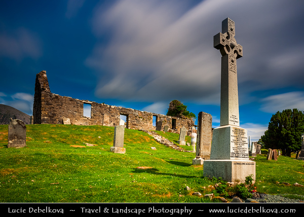 Europe - UK - United Kingdom - Scotland - Inner Hebrides - Isle of Skye - On the way to Elgol - Place of worship - Ruins of Cill Chriosd Church - Church of Christ