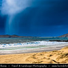 Europe - UK - Scotland - Western Isles of Scotland - Outer Hebrides - Isle Harris - Stunning white beaches of the north of the island captured during dramatic weather